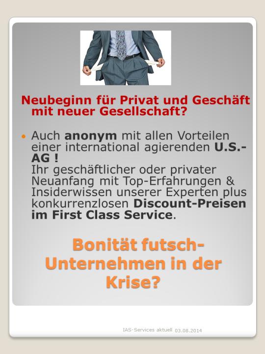 IAS-Bonität futsch