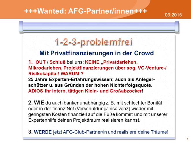 1-2-3-problemfrei mit Privatfinanzierungen in der Crowd.