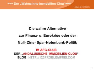 Die wahre Alternative zur Finanz- u. Eurokrise