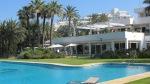 Blick zur Terrasse Golfclub Gualdalmina