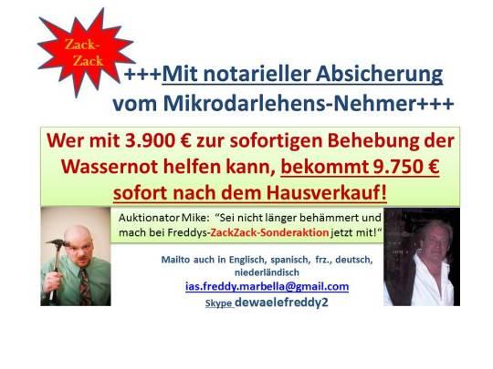 Hilfe Wassernot mit 3.900 €