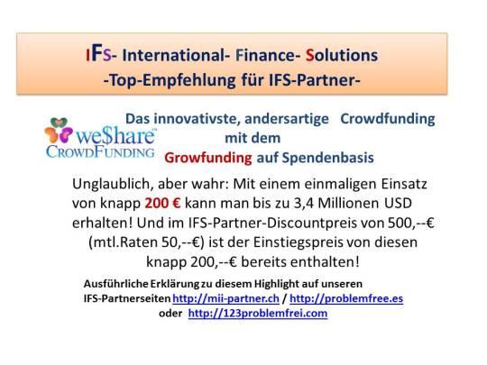 Top IFS-Empfehlung-WeShareCrowdfunding